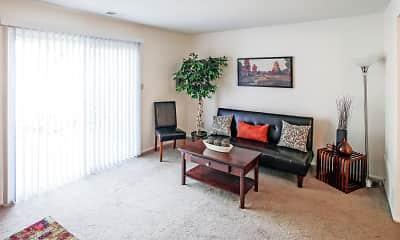 Living Room, Bradford Lake Apartments, 1