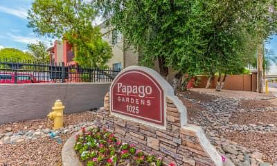 Community Signage, Papago Gardens, 2