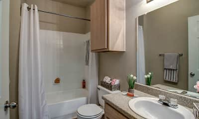Bathroom, Green Pines Apartments, 2