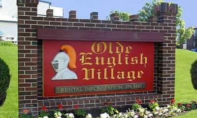 Community Signage, Olde English Village Apartments, 1
