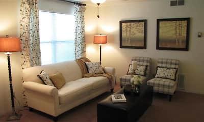 Living Room, The Greens at Chestnut Ridge, 1