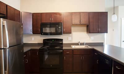Kitchen, West Towne Flats, 1