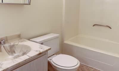 Bathroom, Oak Hill Apartments, 2