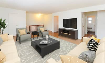 Living Room, Duncan Hill Apartments & Townhomes, 1