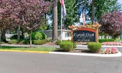 Community Signage, Capitol Club, 1