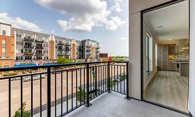 Patio / Deck, The Elmwood Senior Apartments, 2