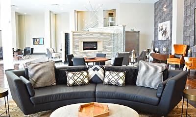 Living Room, 5300 Centre Apartments, 2