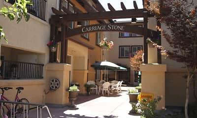 Courtyard, Carriage Stone, 1