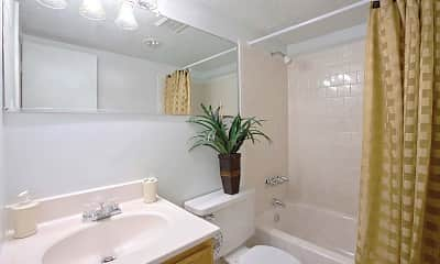 Bathroom, Parkway Apartments, 2