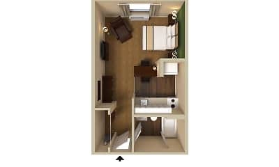 Furnished Studio - Raleigh - North Raleigh - Wake Towne Dr., 2