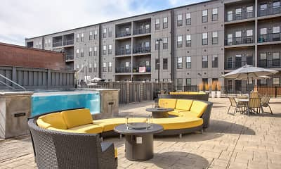 Recreation Area, 1400 Russell Luxury Apartments, 1