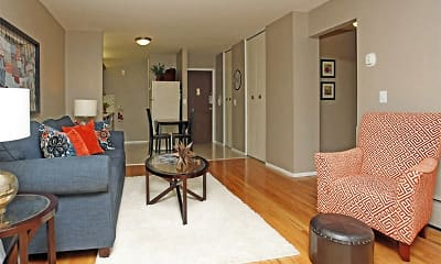 Living Room, Amber Apartments, 1