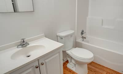 Bathroom, Blossom Corners Apartments, 2