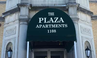 Community Signage, Plaza Apartments, 0