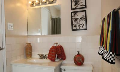 Bathroom, Sea Aire and Mystic Point Apartments and Townhomes, 2