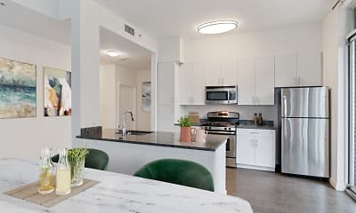 Kitchen, Postmark Apartments, 1