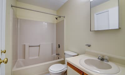 Bathroom, Sunset Ridge Apartments, 2