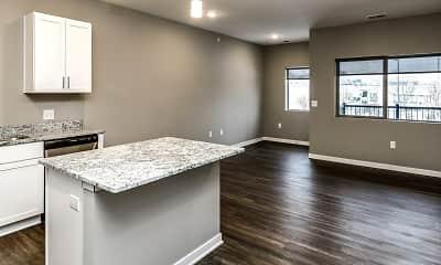 Kitchen, Liv 156 Apartments, 0