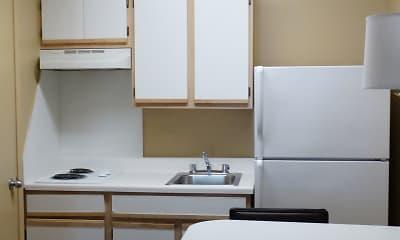 Kitchen, Furnished Studio - Arlington, 1