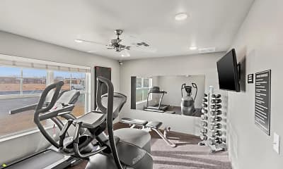 Fitness Weight Room, Avenue Commons, 2