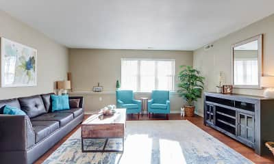 Living Room, Georgetown Park Apartments, 1