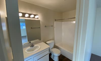 Bathroom, San Dimas Canyon Apartments, 2