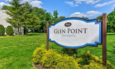 Community Signage, Glen Point Apartments, 2