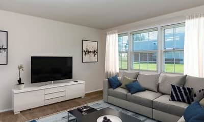 Living Room, Water's Edge Townhomes, 1