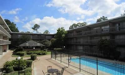 Pool, Levee Run Apartments, 0