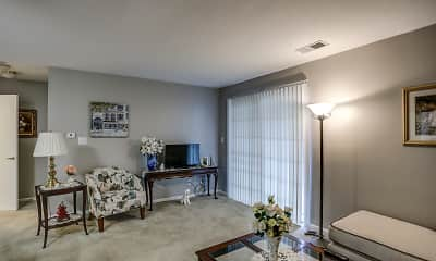 Living Room, Courts of Colfax Apartments, 1