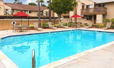 Pool, Oak Hill Apartments, 1