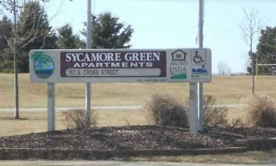 Community Signage, Sycamore Green Apartments, 1