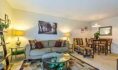 Living Room, Maple Grove Townhomes, 1