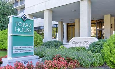 Community Signage, Topaz House, 2