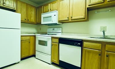 Kitchen, Amberson Plaza Apartments, 2