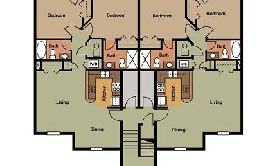 floor plan, Quail Ridge Villas, 1