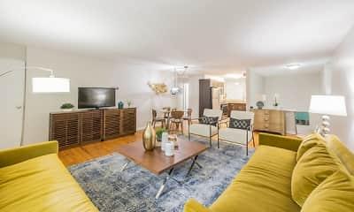 Living Room, Cherokee Apartments, 1