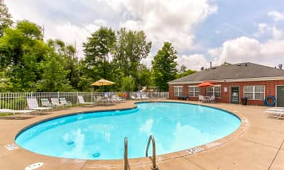 Pool, Parkwood Village Apartments, 1