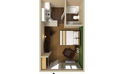 Furnished Studio - Santa Rosa - South, 2