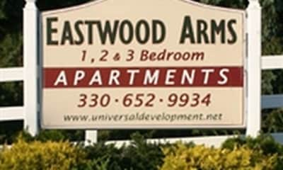 Community Signage, Eastwood Arms Apartments, 0