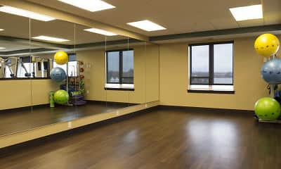 Fitness Weight Room, The Flats at Cedar Grove Apartments, 2