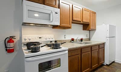 Kitchen, Woodworth Park Apartments, 1