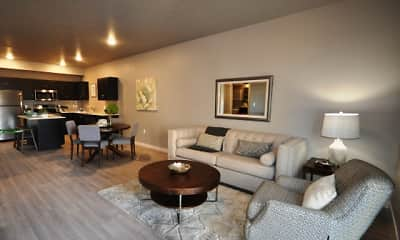 Living Room, Harper Ridge Apartments, 1