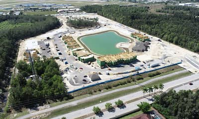 birds eye view of property, The Carlton of Fort Myers, 1
