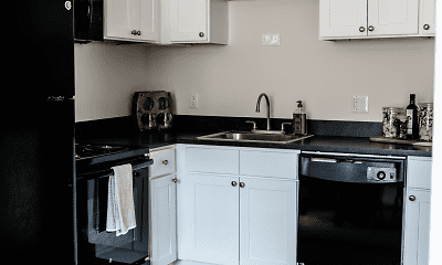 Kitchen, Audubon Manor Apartments, 0