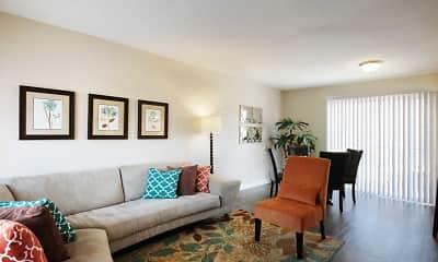 Living Room, Las Velas at Hillcroft, 1