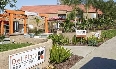 Community Signage, Del Flora, 2