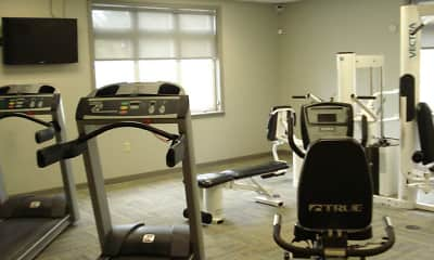 Fitness Weight Room, Briar Manor Apartments, 2