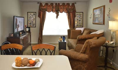 Living Room, Belle Summit Apartments, 2