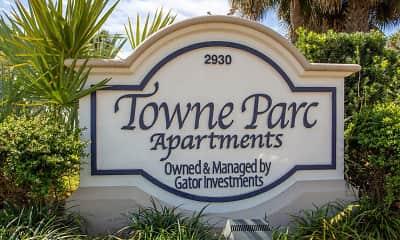 Community Signage, Towne Parc Apartments, 1